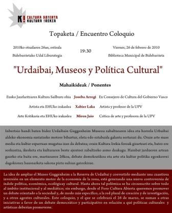 Urdaibai, Museos y Política cultural