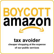 amazon boycott square with outline