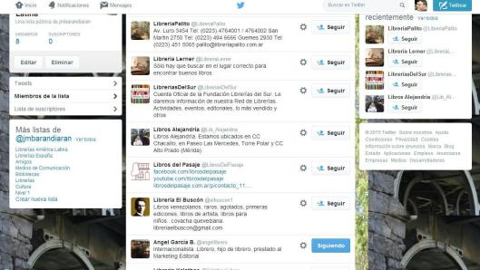 Librerías twitteras América Latina